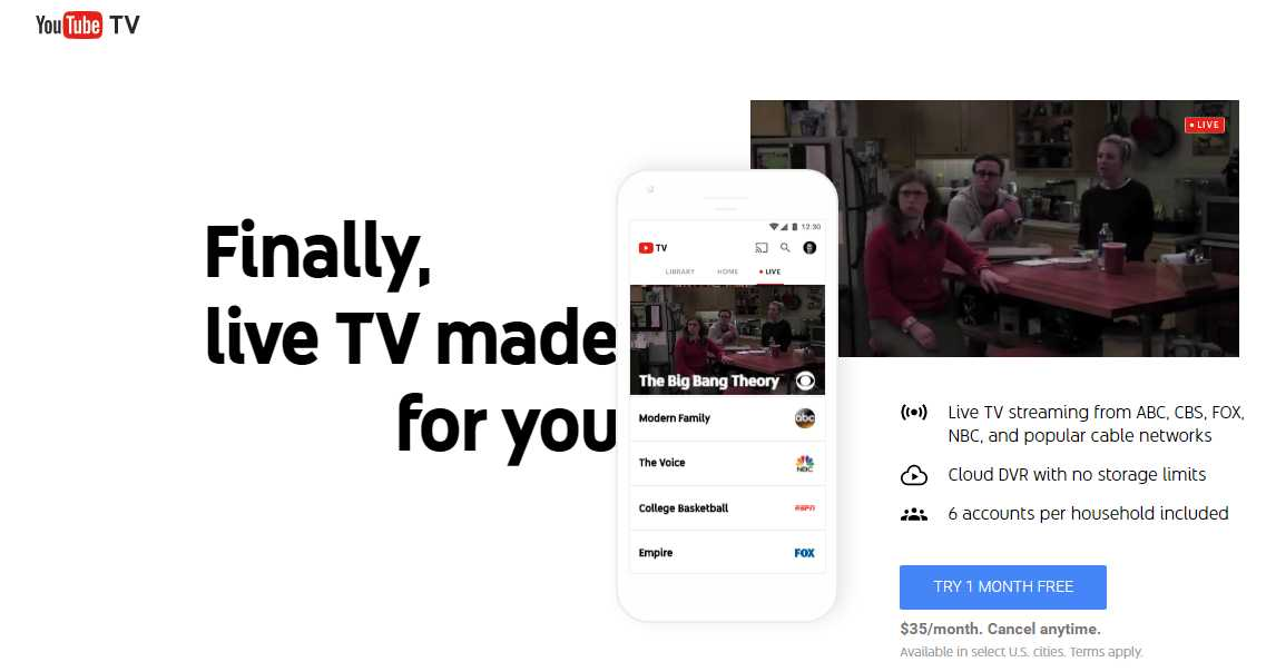 Photo of YouTube TV se extiende a 12 nuevos territorios